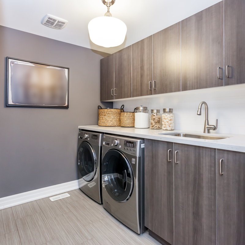 Create a Designer Laundry Room in your Basement - Econo Basement - Basement and Garage Services - Featured Image